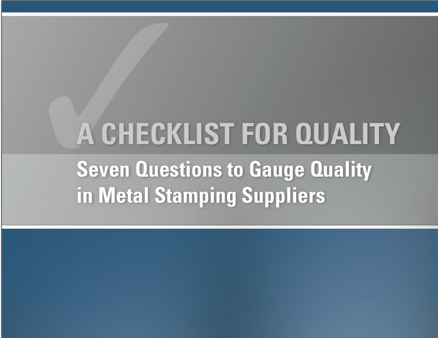 "Download ""Checklist for Quality"" eBook"